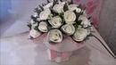Букет белых роз из изолона