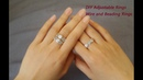 Easy DIY Adjustable Rings: Leaf and Flower Wire and Beading Rings DIY Jewelry Accessory Tutorial