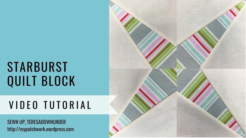 Starburst quilt block - Mysteries Down Under quilt