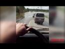 Героический водитель КамАЗа преодолевает затопленное Новотроицкое шоссе