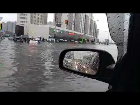 Астана после ливня. Видео: Куат Корганбаев/Facebook