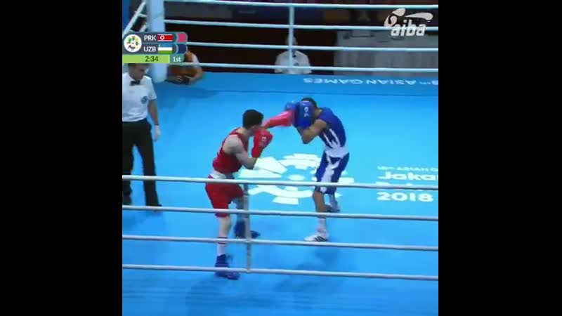 We are getting ready to the ASBC Asian Boxing Championships in Bangkok! 🥊 Jakarta 2018. 56kg Jo Hyo-Nam PRK against Mirazizbek