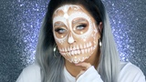 Sugar Skull Makeup Tutorial White Glam Sugar Skull Makeup 31 Days of Halloween
