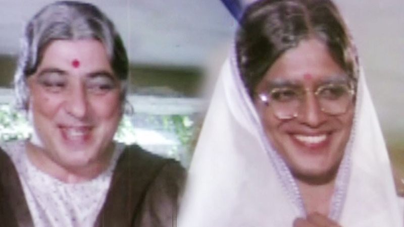 Mithun Chakraborty Amjad Khan disguise as a lady - Hum Se Hai Zamana, Comedy Scene 6