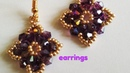 Beautiful earrings Easy DIY Красивые серьги МК