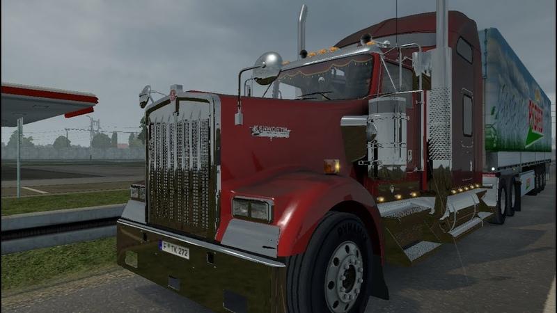 Euro Truck Simulator 2 1 31 Покатушка Мод Kenworth W900 Tuned