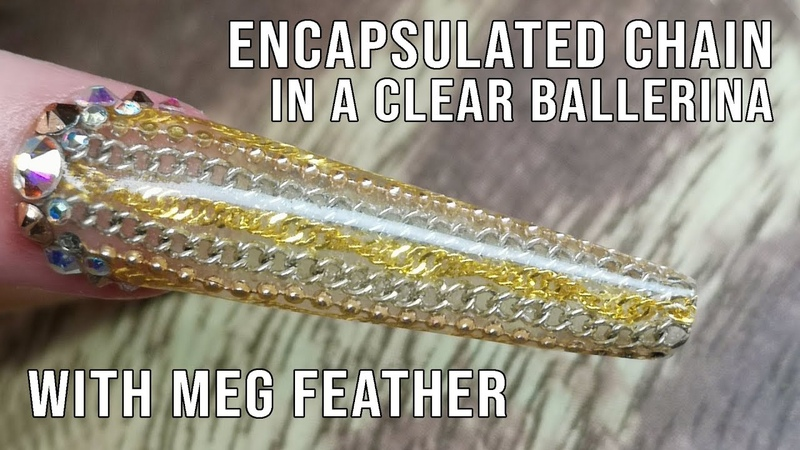 Encapsulated Chain In a Clear Ballerina Design - Featuring Meg Feather