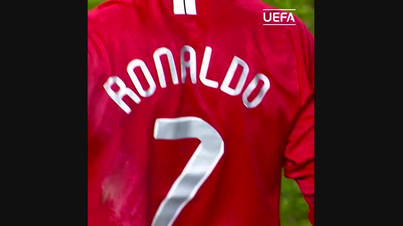 Cristiano Ronaldo en Champions League avec Manchester United MUFC