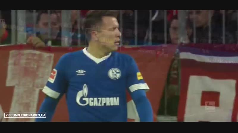 Коноплянка у матчі Баварія - Шальке відео усіх дій українця