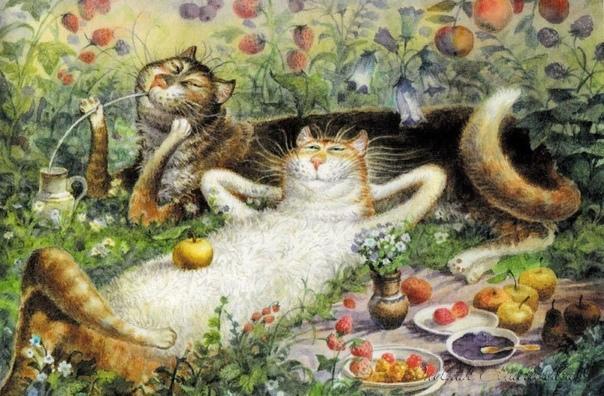 похолодало, плед и чашка с душистым чаем, спят коты. мой человек для обнимашекгде ты