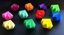 Diamant Basteln mit Papier - DIY Geschenke selber machen - Deko basteln mit Origami Papier