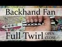 Нож-бабочка. Балисонг трюки - флиппинг средний уровень 7. Backhand Fan, Full Twirl open close
