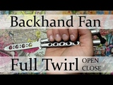 Нож-бабочка. Балисонг трюки - флиппинг средний уровень #7. Backhand Fan, Full Twirl open &amp close