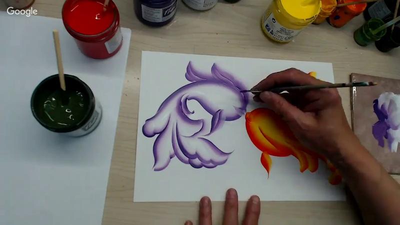 Свободно-кистевая роспись. Рыбки