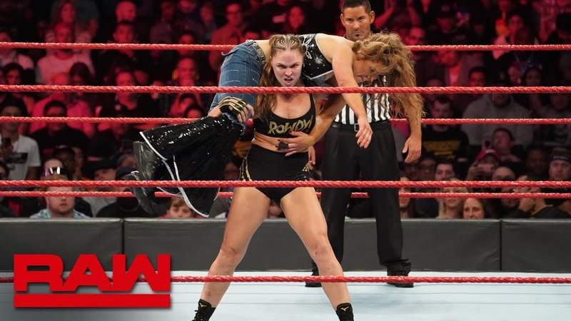 The Jean Ronda Rousey vs Mickie James Raw Women's Championship Match Raw Nov 19 2018