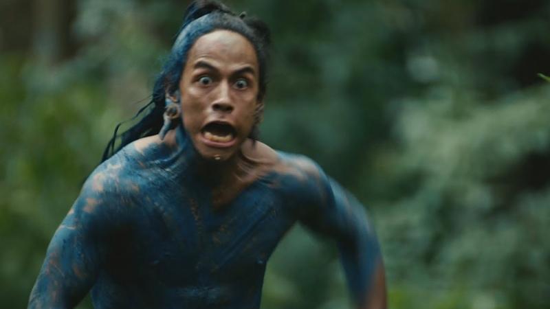 Ягуар нападает на племя вождя - Апокалипсис отрывок из фильма