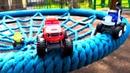 Вспыш и чудо-машинки. Мультики для детей игрушки на детской площадке. Машинки помогают куклам ЛОЛ