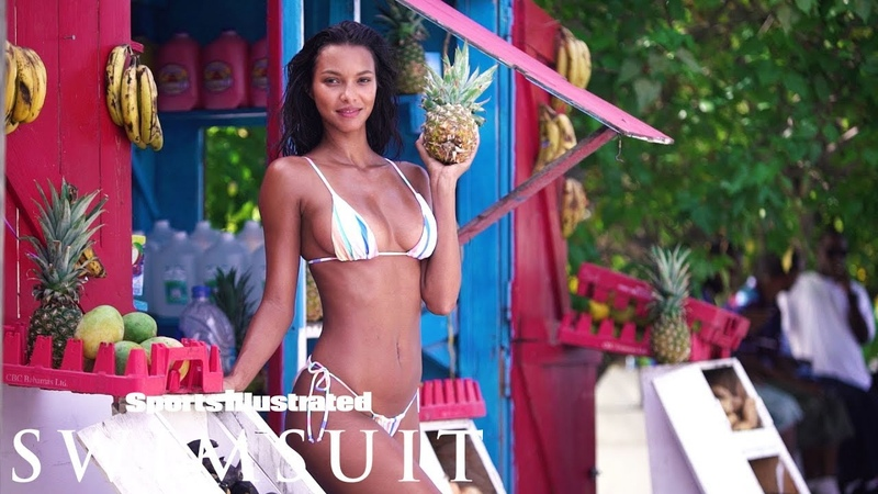 Lais Ribeiro Makes Even a Pineapple Look Sexy| CANDIDS| Sports Illustrated Swimsuit