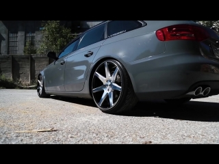 Audi A4 with Vossen Wheels Air Lift Performance