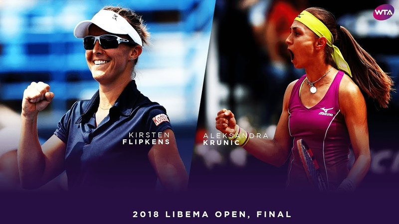 Kirsten Flipkens vs. Aleksandra Krunic | 2018 Libema Open Final | WTA Highlights
