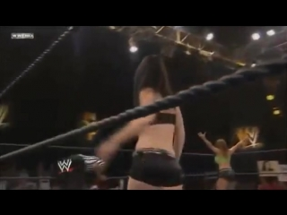 Paige and Audrey Marie vs Kaitlyn and Alicia Fox NXT 10.10.2012 #6