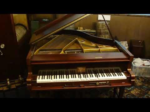A Weber baby grand Duo-Art pianola piano by Aeolian Co Ltd