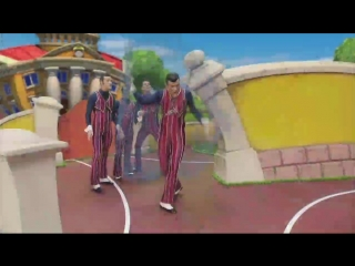 We are number one but its sung badly and screamed into a cheap