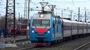 ЭП1М 543 с пассажирским поездом Прибытие на станцию Вязники
