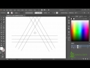 How to draw a triangle Penrose triangle Треугольник Пенроуза Урок 32 Adobe Illustrator