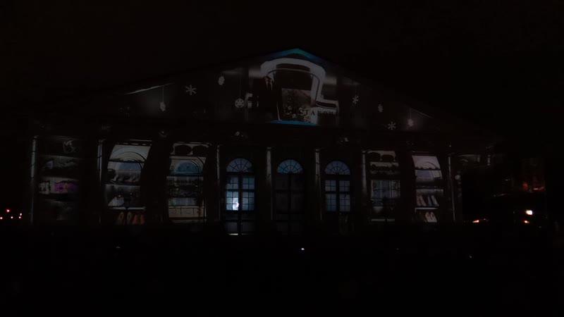 Проекционное лазерное шоу на Манеже