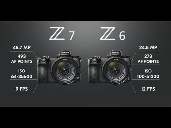 Nikon Z6 и Z7 полнокадровые беззеркалки Презентация Никон 23 августа на АНГЛИЙСКОМ Фотоазбука