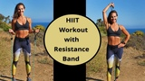 Josephine Rene - HIIT Workout with Resistance Band | Интервальная тренировка с эспандером (кардио + сила)
