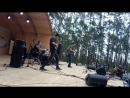 Егор Петров и местная рок-группа на Рок-концерте в парке города Покровск, Якутия. 25.08.2018