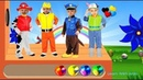 Colors Dress Paw Patrol Funny kids costumes Learn Colors for Children