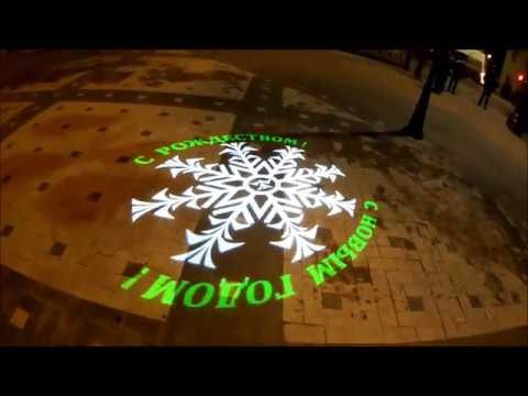 Видео-тест Экшн-камеры olympus tg-tracker тест FULHD 60кс угол обзора средний вечер пл. Ленина