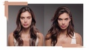 Sara Sampaio on set with LUMINOUS SILK FOUNDATION by Giorgio Armani