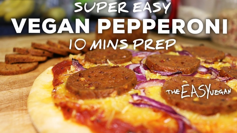 This Vegan Pepperoni tastes SOO Real - 10 min prep
