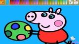 Свинка Пеппа Русский. Раскраска для детей. Учим цвета