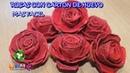 Como hacer rosas de carton de huevo y pintarlas facil