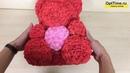 Медведь из роз с сердцем 40см красный видео обзор