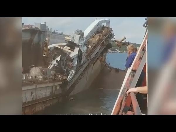 Путин утопил ещё один ДОК. Всё сгнило, тонет и рушится.