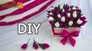 Тюльпаны в коробке. Тюльпаны из гофрированной бумаги. Букет из бумажных цветов. Diy \ Buket7ruTV