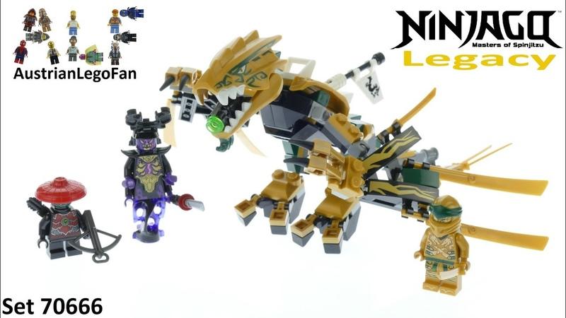 Lego Ninjago Legacy 70666 The Golden Dragon - Lego Ninjago 70666 Speed Build