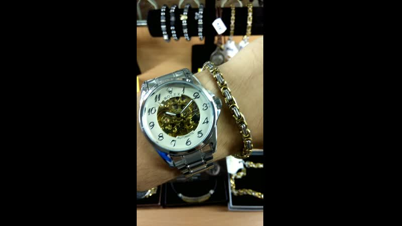Rolex skeleton white