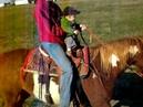 2010 Clark rides milo with Candice