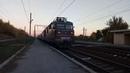Электровоз ВЛ82М 089 с пассажирским поездом следует по перегону Люботин Люботин Західний