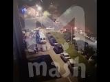 Видео с места нападения на патрульных  в Клину