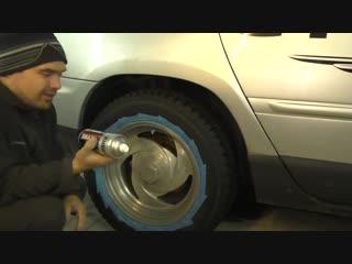 Как покрасить колёсные диски самому балончиком за 5 минут
