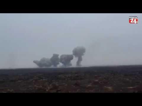 SYRIASYRIAN ARMY N D F ELEPHANT ROCKETS Sy A AF HEAVY SHELLS ON ISIS POSITION AL SAFA SWEIDA