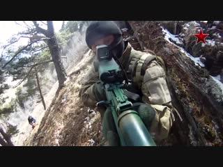 Русский солдат.Helmet cam.